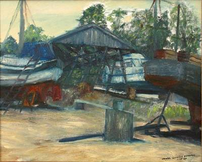 Painting - The Boat Yard by Michael Anthony Edwards