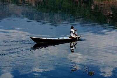 Photograph - The Boatman - Nepal by Aidan Moran