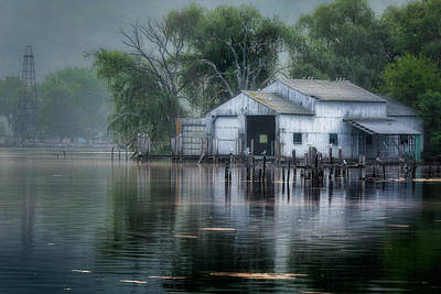 The Boathouse Art Print by Bill Wakeley
