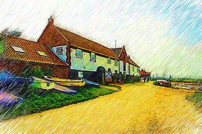 The Boathouse Burnham Overy Staithe Art Print by Chris Thaxter