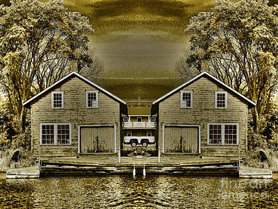 Photograph - The Boathouse Twins by Nina Silver