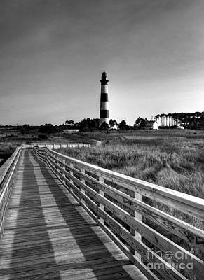 Photograph - The Bodie Island Light Bw by Mel Steinhauer