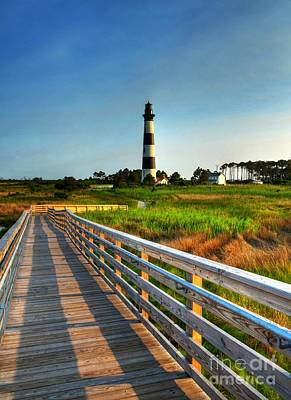 Photograph - The Bodie Island Light by Mel Steinhauer