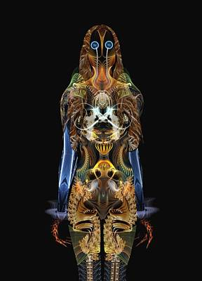 Real Face Digital Art - The Body by Bear Welch