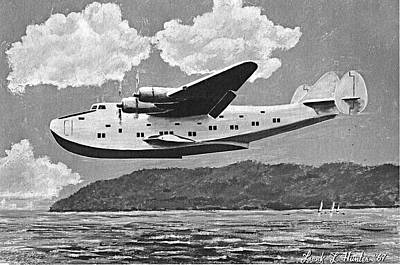 Airways Painting - The Boeing 314 Yankee Clipper by Frank Hunter