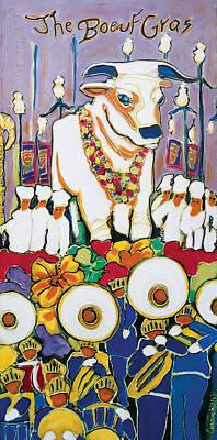 Mardi Gras Painting - The Boeuf Gras by Connie Kittok