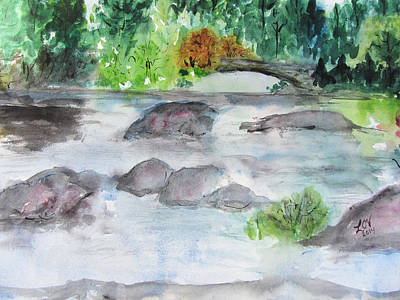 Painting - The Bog On Tupper Lake by Lucille  Valentino
