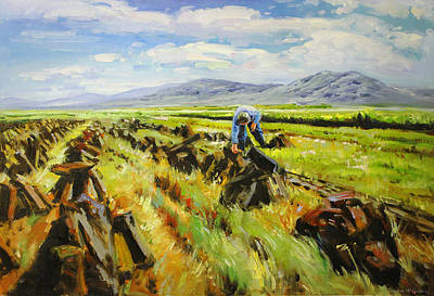 Turf Painting - The Bogman by Conor McGuire