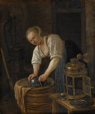 Old Barn Painting - The Boiler Barn Star by Jan Steen