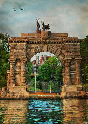 Digital Art - The Boldt Castle Entry Arch by Lori Deiter