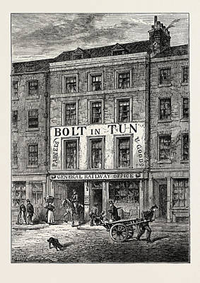 The Bolt-in-tun 1859 London Art Print