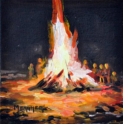 Bonfire Painting - The Bonfire by Spencer Meagher