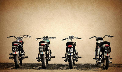 Triumph Bonneville Photograph - The Bonneville Four by Mark Rogan