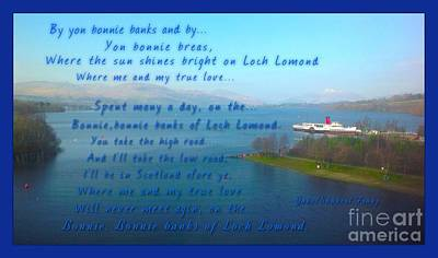 Photograph - The Bonnie Banks Of Loch Lomond by Joan-Violet Stretch