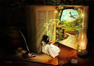 The Book Of Secrets Print by Donika Nikova - ShaynArt