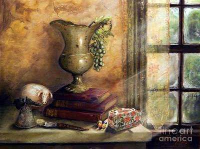 The Books By The Window Art Print by Sandra Aguirre