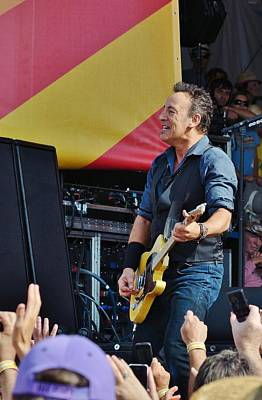 Bruce Springsteen Photograph - The Boss 2 by William Morgan