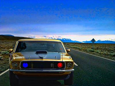 Photograph - The Boss 302 Mustang Highway Patrol Car by Tim McCullough