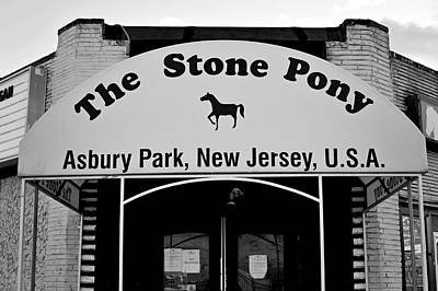 Photograph - The Boss Stone Pony Asbury Park by Terry DeLuco