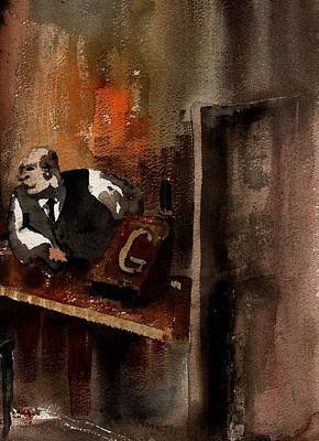 Painting - The Boss by Val Byrne