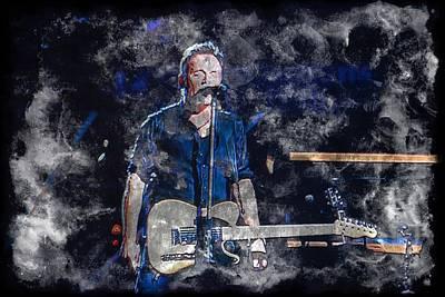 Bruce Springsteen Photograph - Bruce   Human Touch by John Delong