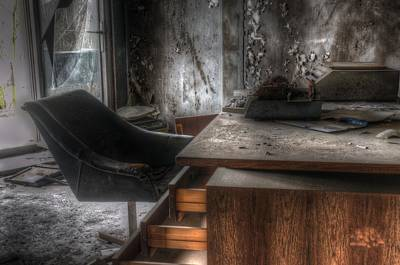 Haunted House Digital Art - The Boss's Chair  by Nathan Wright