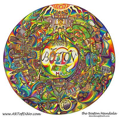 the Boston Mandala Art Print
