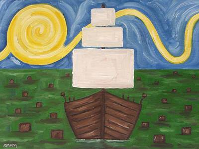 Boston Painting - The Boston Tea Party by Patrick J Murphy