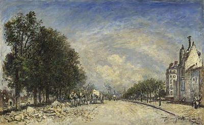 The Boulevards Painting - The Boulevard De Port-royal. Paris by Johan Barthold Jongkind