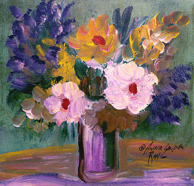 James Earl Ray Painting - The Bouquet 2 by Anna Sandhu Ray
