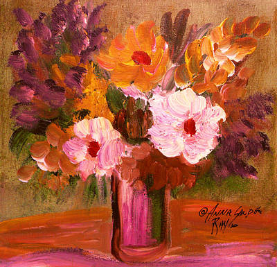 James Earl Ray Painting - The Bouquet 3 by Anna Sandhu Ray
