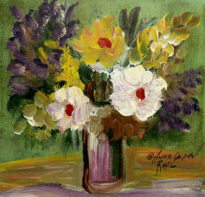 James Earl Ray Painting - The Bouquet by Anna Sandhu Ray