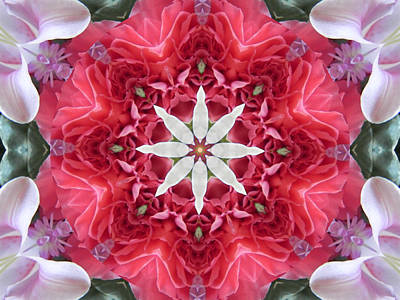 Digital Art - The Bouquet Mandala by Diane Lynn Hix