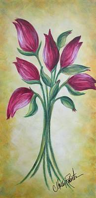 Abstract Realism Painting - The Bouquet  by Molly Roberts