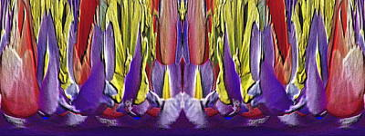 Digital Art - The Bouquet Unleashed 82 by Tim Allen
