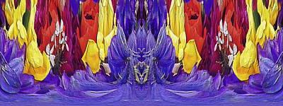 Digital Art - The Bouquet Unleashed 98 by Tim Allen