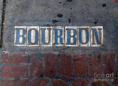The Bourbon Street Sign Art Print by Joseph Baril