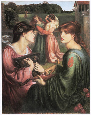 The Bower Meadow Art Print by Dante Gabriel Rossetti
