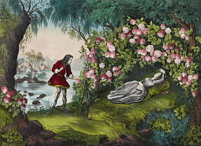 The Bower Of Roses Circa 1856 Print by Aged Pixel