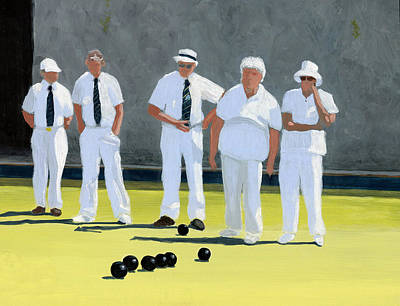Sports Paintings - The Bowling Party by Karyn Robinson