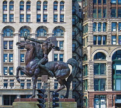 The Bowman - Chicago Indian Statue - 02 Art Print by Gregory Dyer