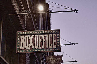 Photograph - The Box Office by Barry Cole
