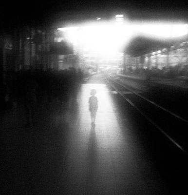 Train Tracks Photograph - The Boy From Nowhere by Hengki Lee