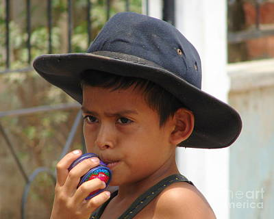 Photograph - The Boy In The Black Hat by Lew Davis
