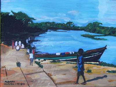 Art Print featuring the painting The Boy Porter  Sierra Leone by Mudiama Kammoh