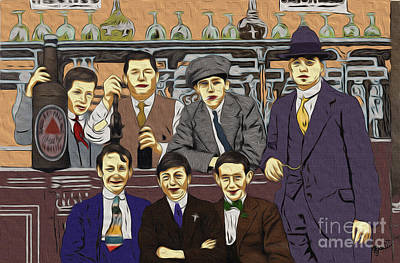 1907 Digital Art - The Boys At Blackpool by Megan Dirsa-DuBois