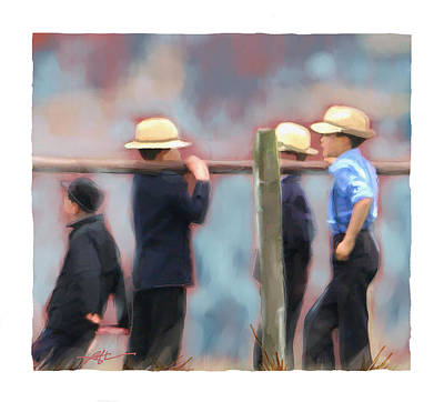 Art Print featuring the painting The Boys by Bob Salo