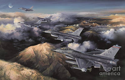 F-16 Painting - The Boys From Richmond by Randy Green