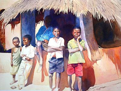 Painting - The Boys Of Malawi by Brenda Beck Fisher