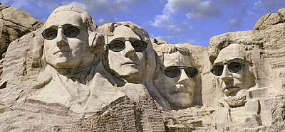 Mount Rushmore Digital Art - The Boys Of Summer 2 Panoramic by Mike McGlothlen